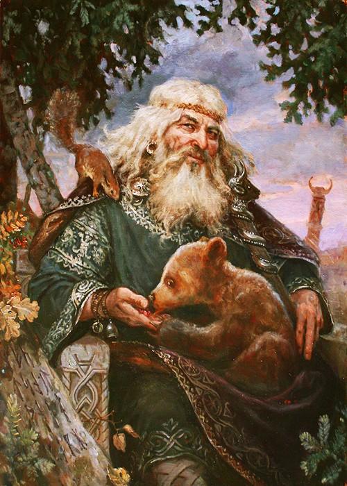 Бог Велес. Картина художника Андрея Шишкина